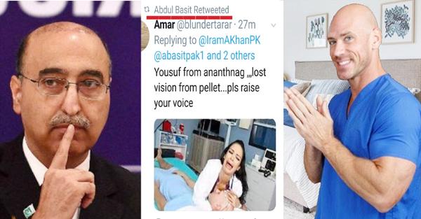 پاکستان کے سابق سفیر نے جس پورن سٹار کی تصویر شیئر کر بتایا تھا پیلیٹ گن کا شکار، اس نے دیا یہ جواب