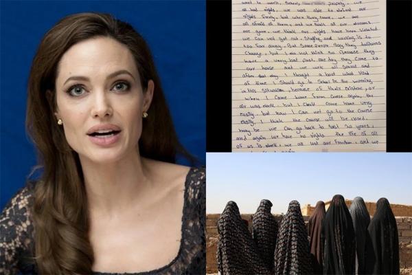 انسٹاگرام پر آئی انجلینا جولی ، افغان لڑکی کا خط شیئر کیا